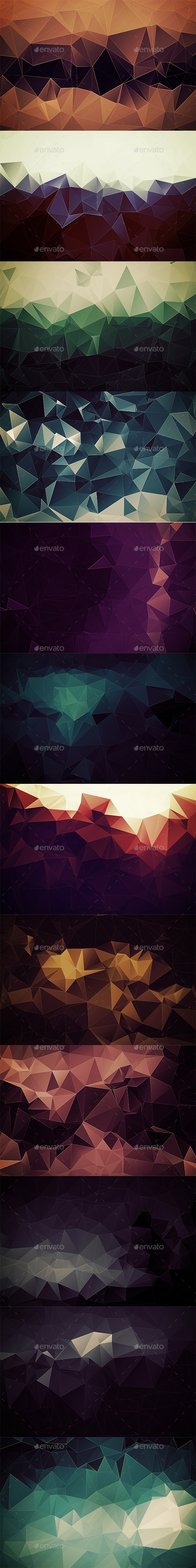 Abstract Polygonal Backgrounds Vol5 - Abstract Backgrounds