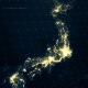 Japan Map at Night HD - VideoHive Item for Sale
