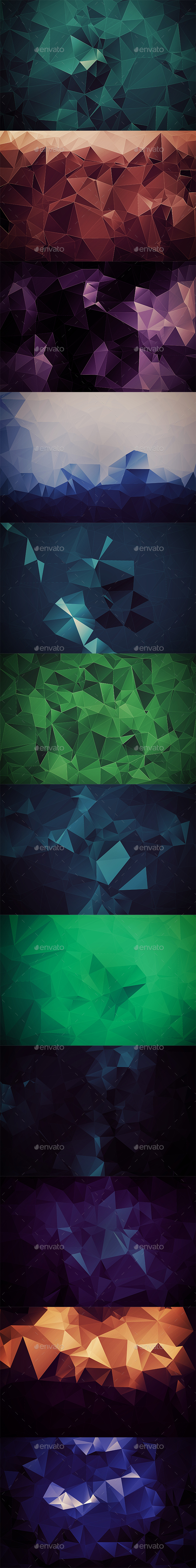 Abstract Polygonal Backgrounds Vol6 - Abstract Backgrounds
