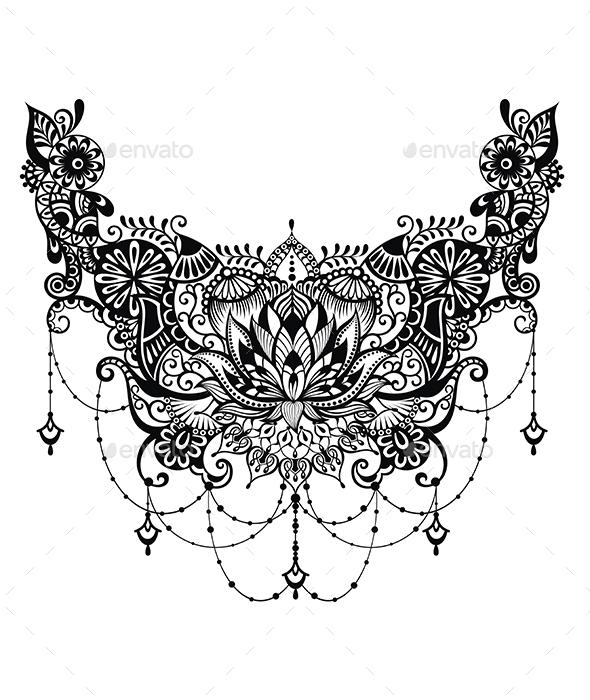 Lotus Tattoo - Tattoos Vectors