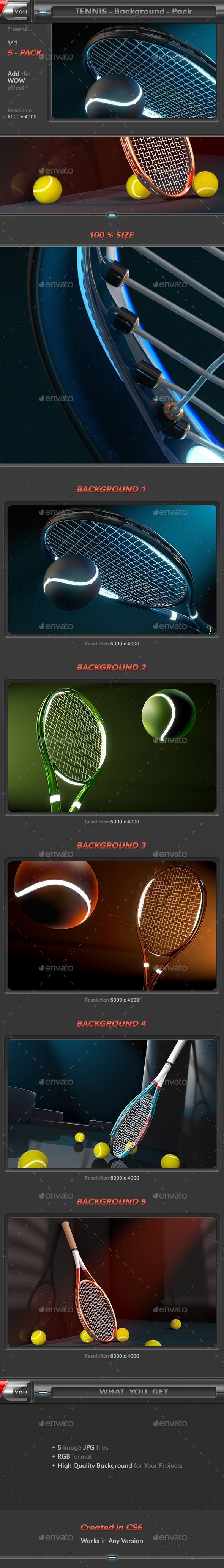 Tennis Background Pack - 3D Backgrounds