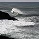 Ocean Waves Hitting Black Lava Rock Shore Depoe Bay Oregon