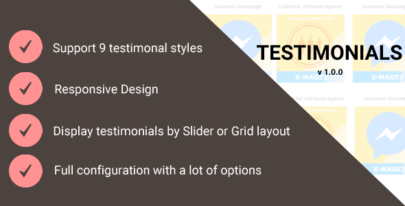 Magento 2 Testimonials - CodeCanyon Item for Sale