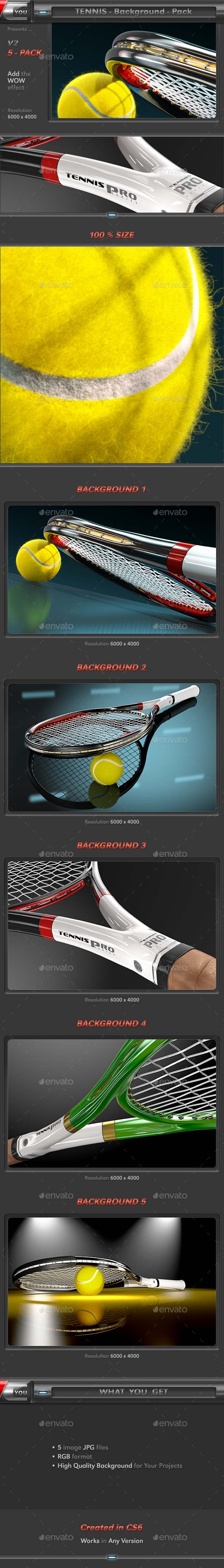 Tennis Background Pack 2 - 3D Backgrounds