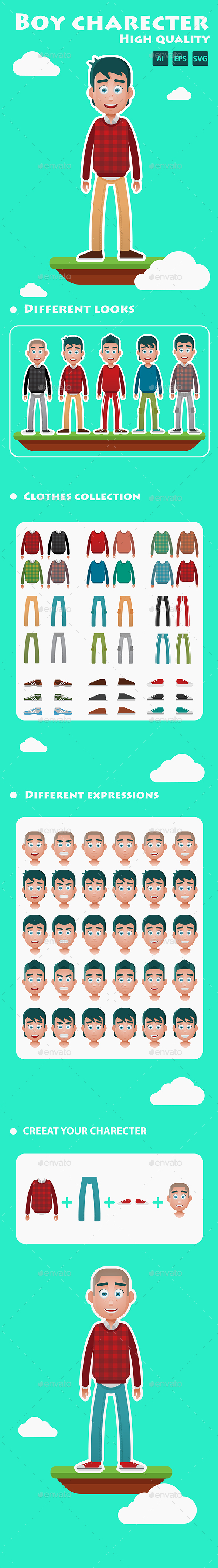 Character Emotions and Expression Set - People Characters