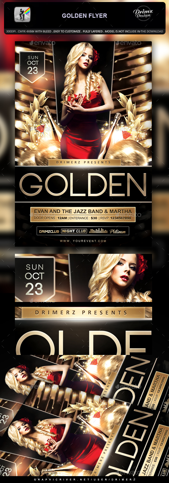 Golden Flyer - Events Flyers