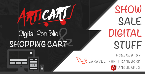 Articart Digital Portfolio Website and Shopping Cart