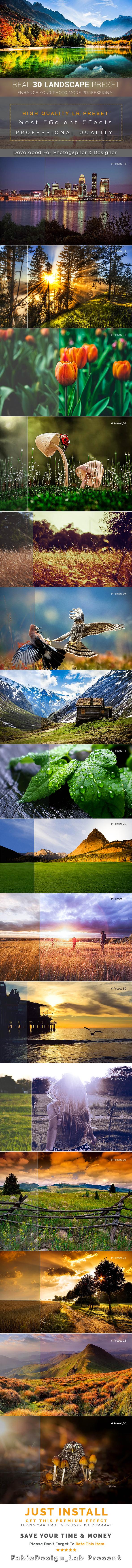 Real 30 Landscape Lr Preset - Lightroom Presets Add-ons