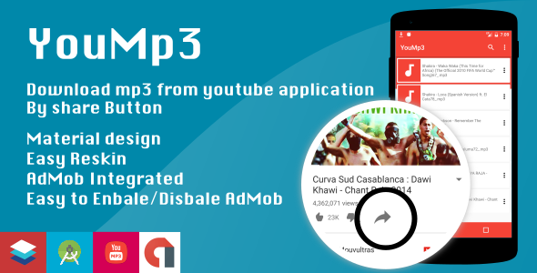 YouMp3 - Download mp3 from share button - CodeCanyon Item for Sale