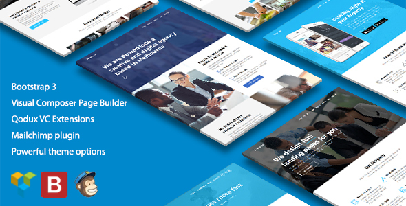 PowerNode – Multi-Purpose Landing Page WordPress Theme