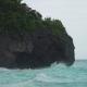Coast Sea in Stormy Weather. Boracay Island Philippines.