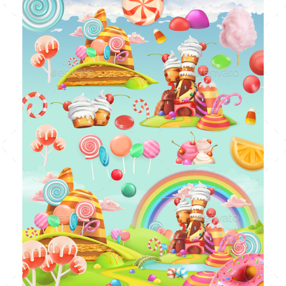 Sweet Candy Land - Miscellaneous Vectors