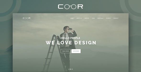 Coor – Creative One Page PSD Template.