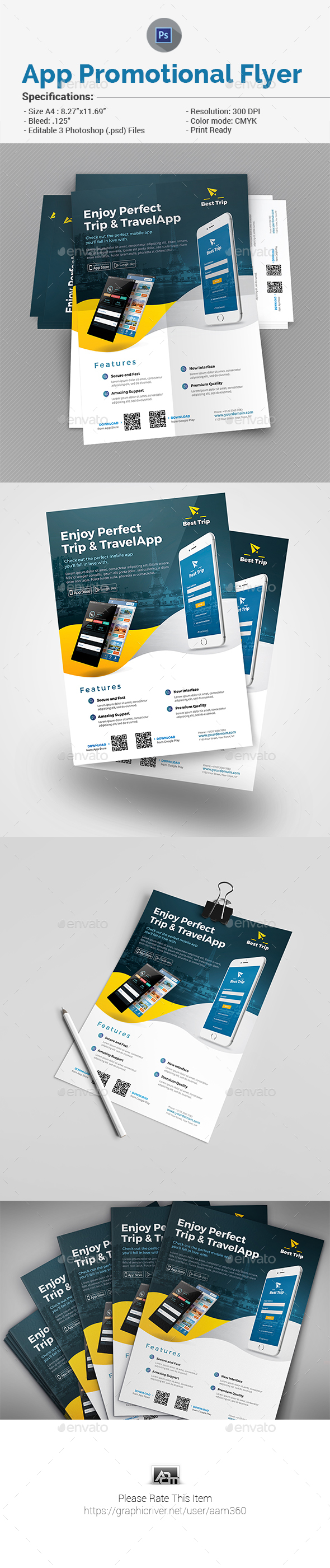 Mobile App Promotion Flyer - Commerce Flyers