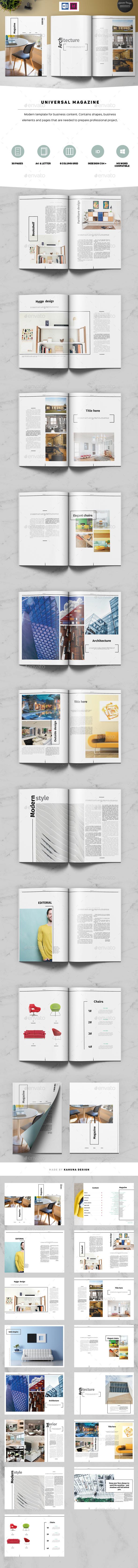 Universal Magazine - Magazines Print Templates
