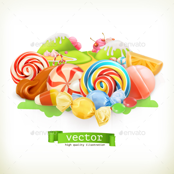 Sweet Shop Candy Land - Food Objects