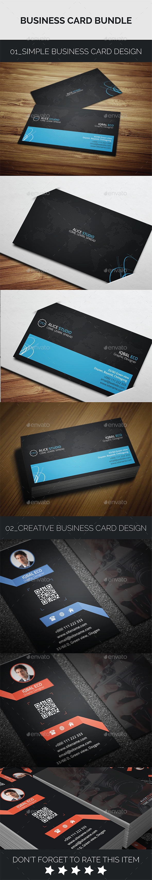 Business Card Bundle 2in1 - Creative Business Cards
