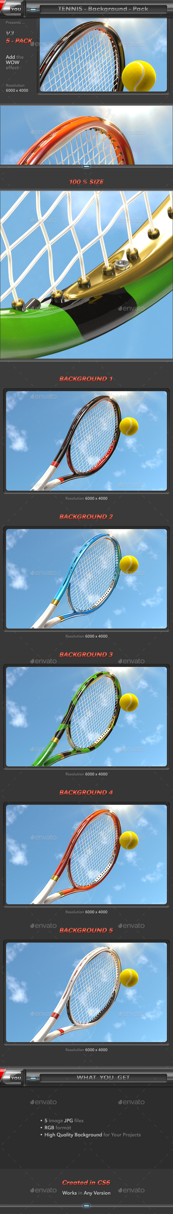 Tennis Background Pack 3 - 3D Backgrounds