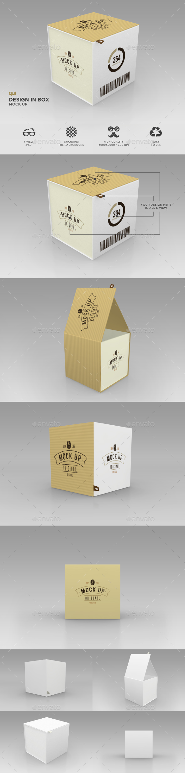 Package Box Mock Up - Miscellaneous Packaging