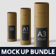 Slim Paper Tube Mockup Bundle - GraphicRiver Item for Sale