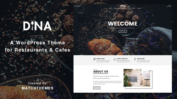 Dina – Restaurant, Bar, Cafe, Food WordPress Theme