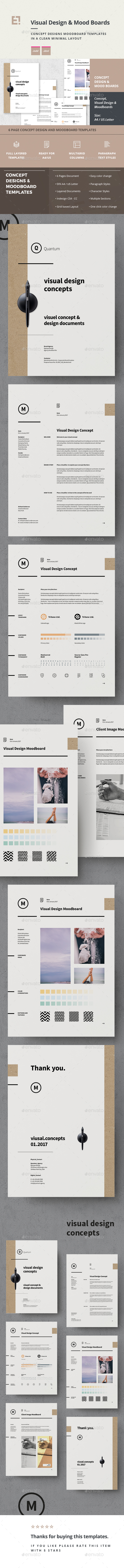 Concept Design Mood Board Templates - Proposals & Invoices Stationery