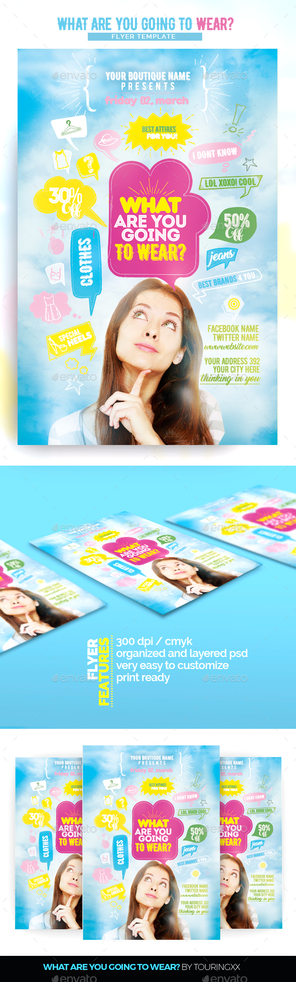What Are You Going To Wear? - Flyers Print Templates