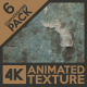 Stratum Grunge 4K Animated Texture (6-Pack) - VideoHive Item for Sale
