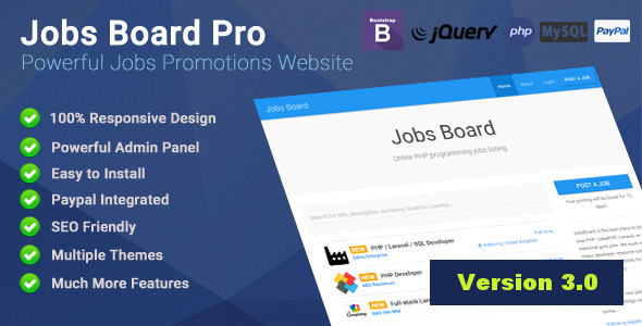 Jobs Board Pro - Powerful Jobs Promotion Website - CodeCanyon Item for Sale