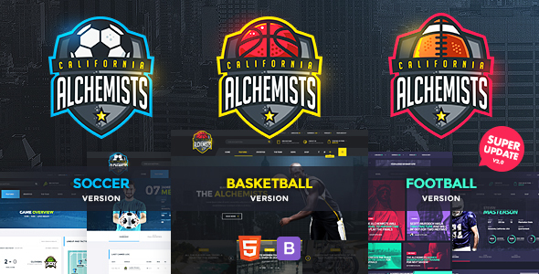 Alchemists – Basketball, Soccer, Football Sports Club and News HTML Template