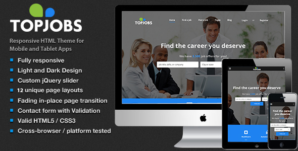 JobCareer | Job Board Responsive Html Theme
