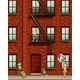 Apartment Building with Many Kids - GraphicRiver Item for Sale