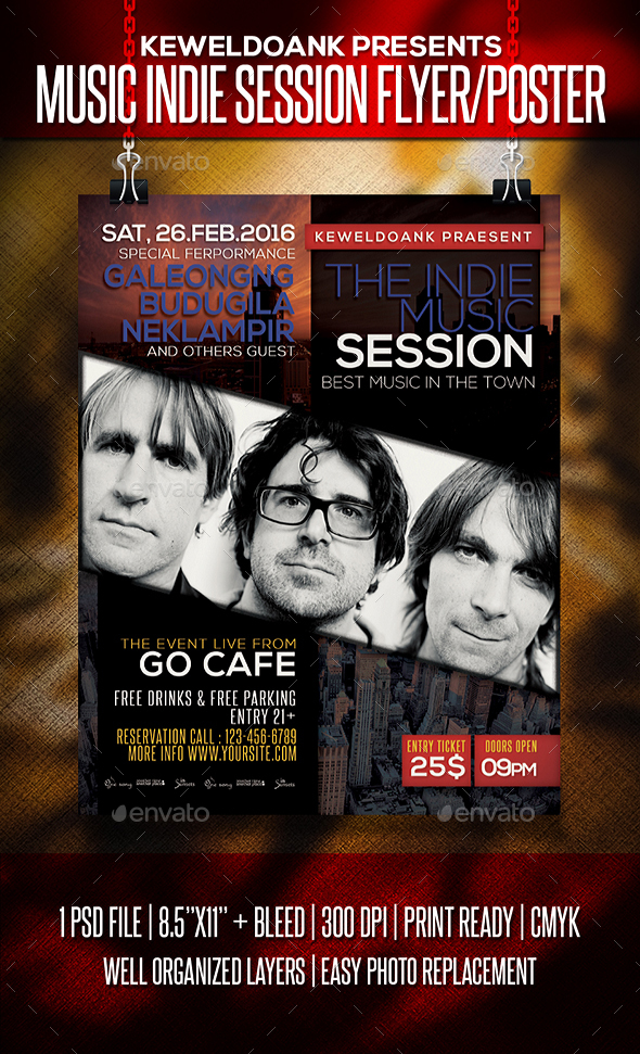 Music Indie Session Flyer / Poster - Events Flyers