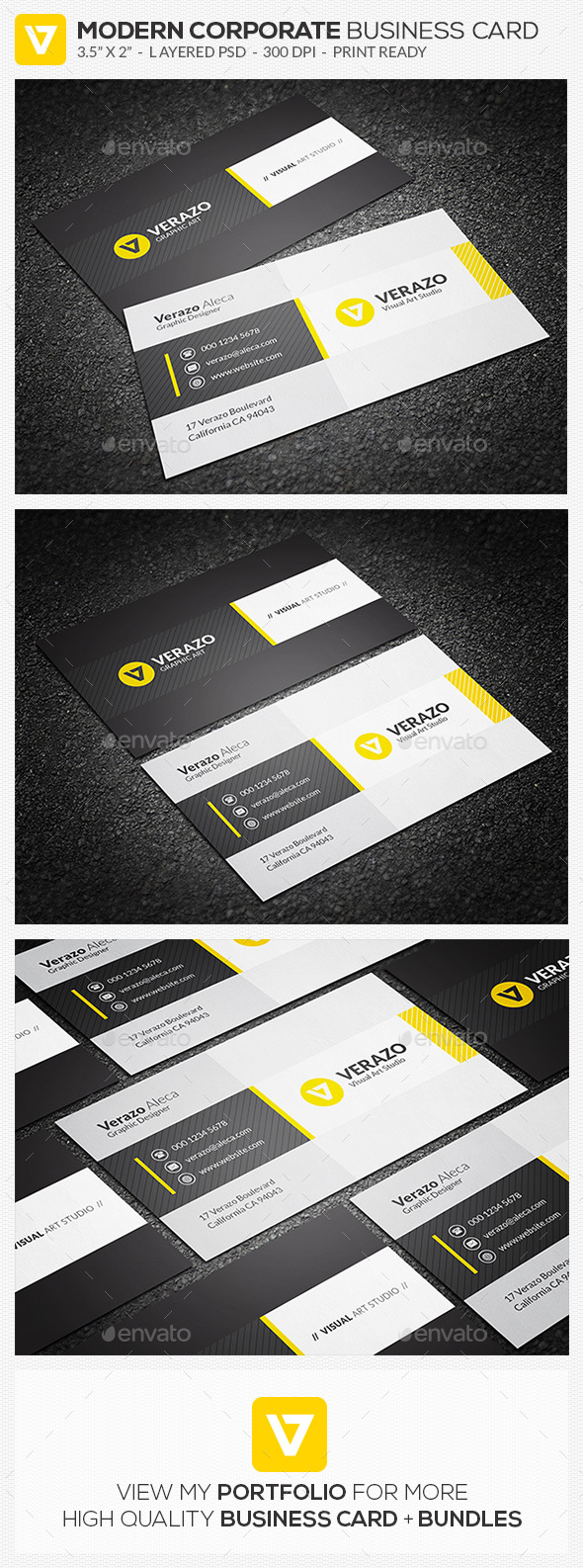 Modern & Stylish Business Card Template - Creative Business Cards
