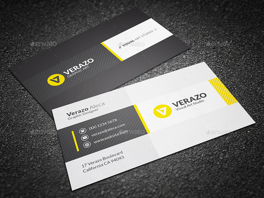 Modern & Stylish Business Card Template by verazo | GraphicRiver