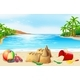 Beach Scene with Many Toys - GraphicRiver Item for Sale