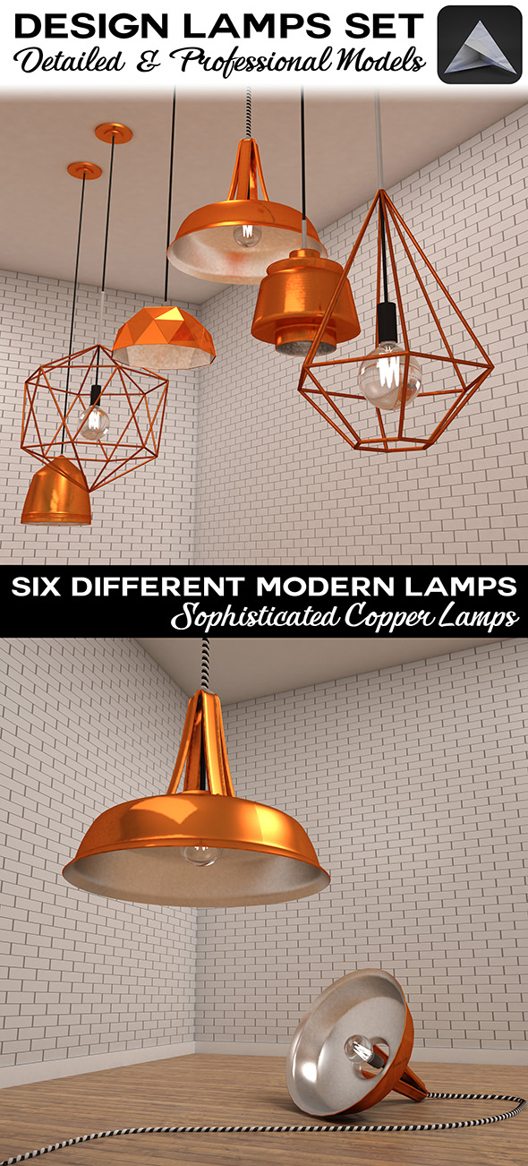 Design Lamps Set - 3DOcean Item for Sale