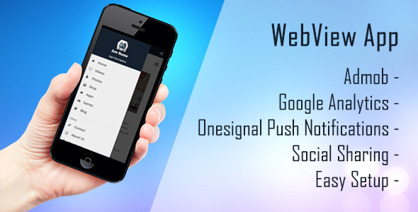 iOS, Android WebView App - Cordova, ionic, .. Easy Setup - CodeCanyon Item for Sale