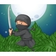 Ninja Holding Sword in the Bush - GraphicRiver Item for Sale