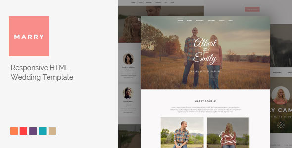 Marry – Responsive HTML Wedding Template