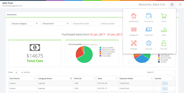 KAN Purchase Management Tool - CodeCanyon Item for Sale