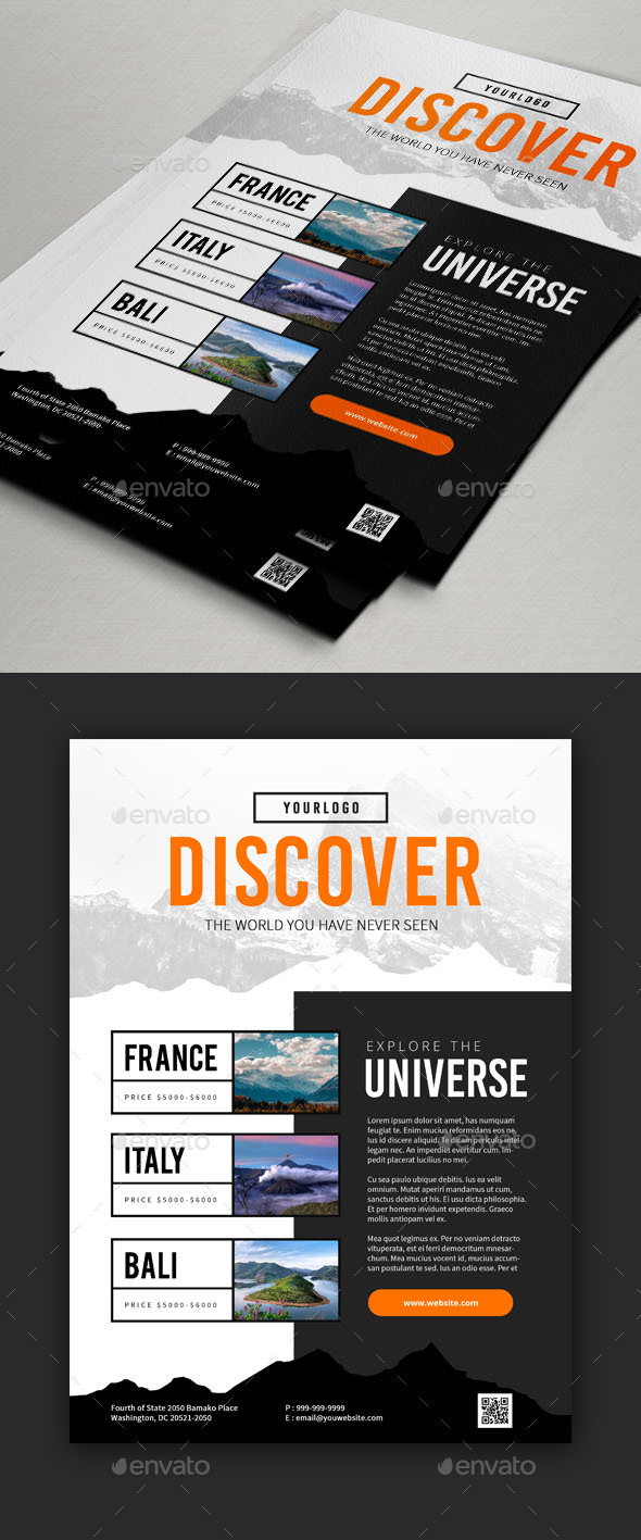 Travel Flyers Designs V1 - Holidays Events