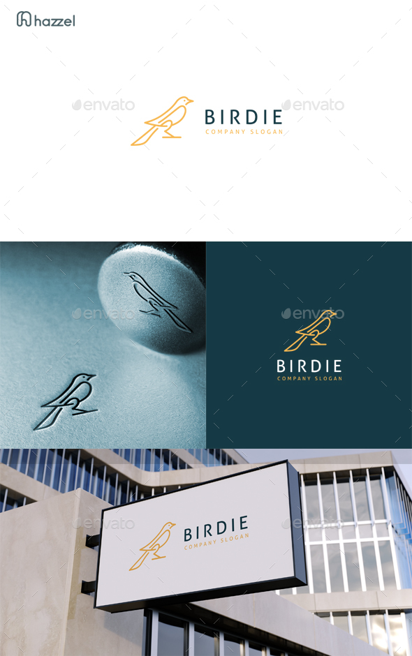 Birdie Logo - Animals Logo Templates