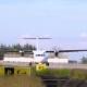 Thailland. Phuket International Airport. Airfield. Propeller, Twin-engine Aircraft Start Engines. .
