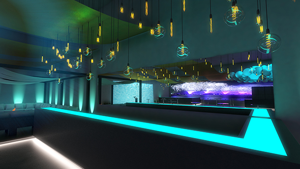 party scenography - nightclub - 3DOcean Item for Sale