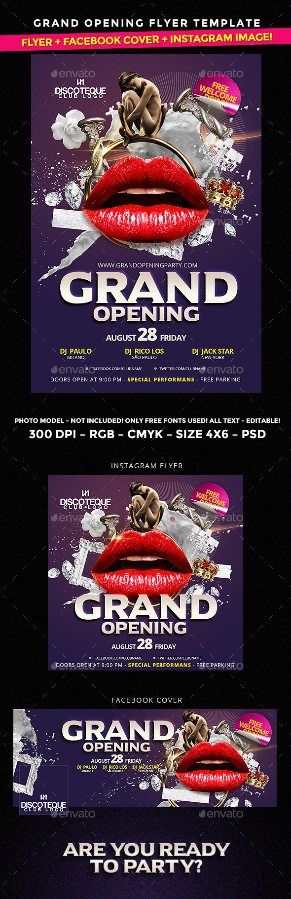 Opening Flyer - Clubs & Parties Events