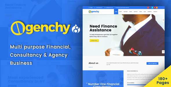 Agenchy - Modern Multipurpose Drupal 8 Theme - Business Corporate