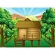 Wood Hut in the Forest - GraphicRiver Item for Sale