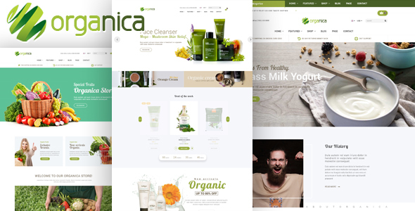 Organica – Organic, Beauty, Natural Cosmetics, Food, Farn and Eco HTML Template