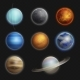 Solar System Planets Realistic Set Isolated - GraphicRiver Item for Sale